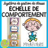 Échelle de comportement (FRENCH Behaviour Clip Chart) - Editable!