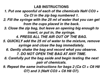 chemical reactions lesson