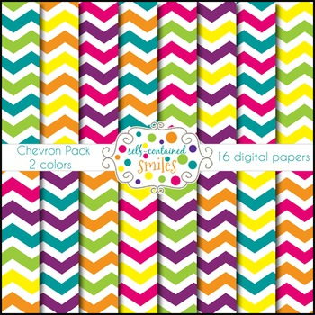 Bright Chevron Papers- Two Colors
