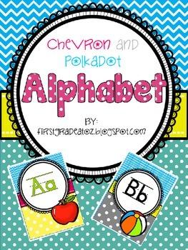 chevron and polkadots alphabet