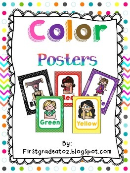 chevron and polkadots color posters