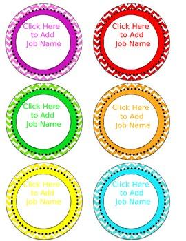 chevron blank editable circular labels 3.5 inches round