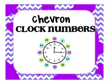 chevron clock numbers