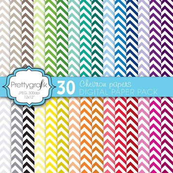 chevron digital paper, commercial use, scrapbook papers, background - PS565