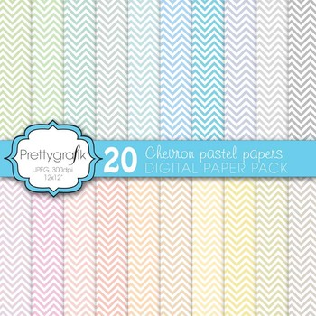 chevron digital paper, commercial use, scrapbook papers, background - PS583