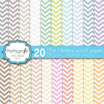 chevron digital paper, commercial use, scrapbook papers, background - PS584