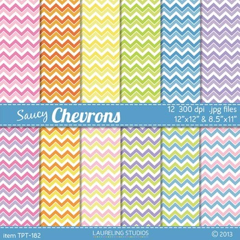 "chevron digital paper with 8.5""x11"" 12""x12"" .jpg files in"