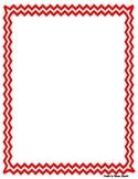 chevron framed portrait paper