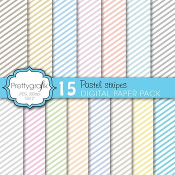 chevron pastels digital paper, commercial use, scrapbook papers - PS613