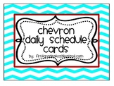 chevron themed editable daily schedule cards