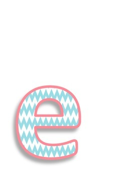 """chevron """"welcome"""" letters"""