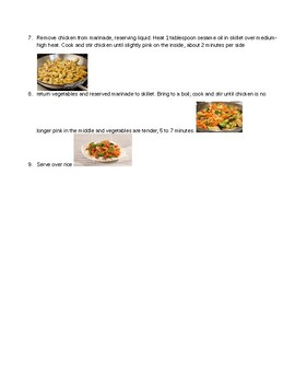 chicken stir fry visual recipe