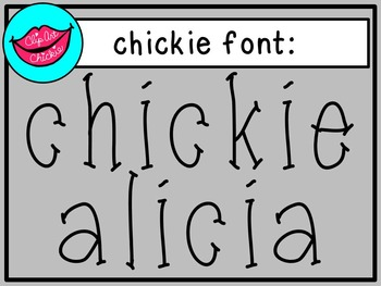 chickie alicia font - personal use