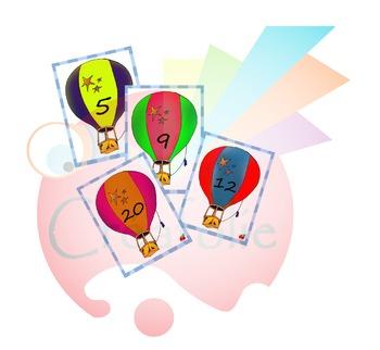 chiffres montgolfière / balloon number