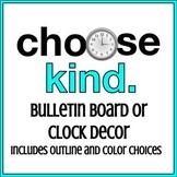 choose kind Clock Decor Labels or Wonder Bulletin Board