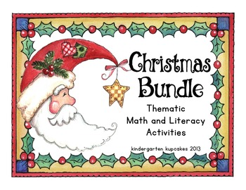 christmas bundle: thematic supplemental math and literacy activities