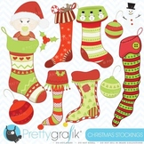 christmas stockings clipart, commercial use, vector graphics - CL402