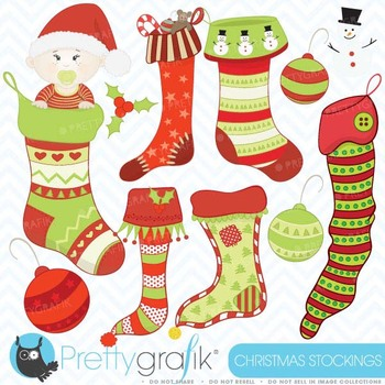 christmas stockings clipart, commercial use, vector graphi