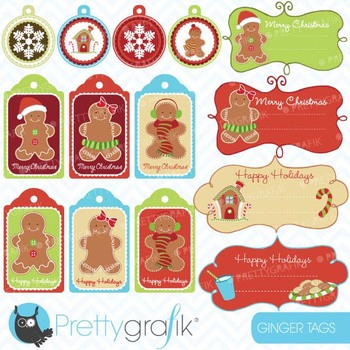 christmas tags label frames clipart commercial use, vector graphics -CL602