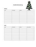 christmas vacation homework log