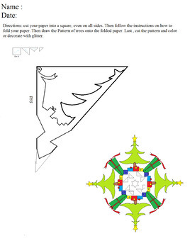 christmastree snowflake pattern