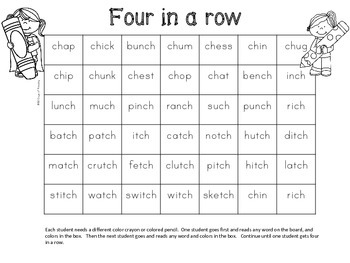 ch and tch  Worksheets