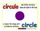 circle/circulo geom 1-way blue/rojo
