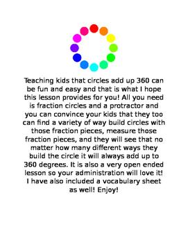 circles are 360 degrees and how to prove it!