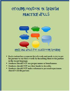 circumlocution practice II SPANISH