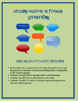 circumlocution situations FRENCH