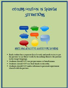 circumlocution situations SPANISH
