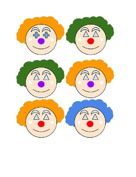 circus clown picture cards