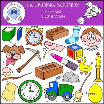 ck Ending Sounds Clip Art
