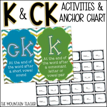 ck or k Anchor Chart & Activity