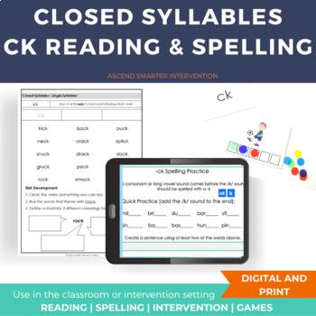 ck vs k Spelling Game
