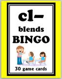 cl- blends BINGO + 12 bonus pages of cl- vocabulary words