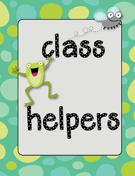 class helper tags- back to school