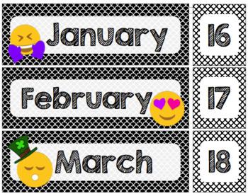 class schedule cards: emojis