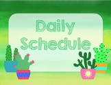 class schedule cactus and watercolors