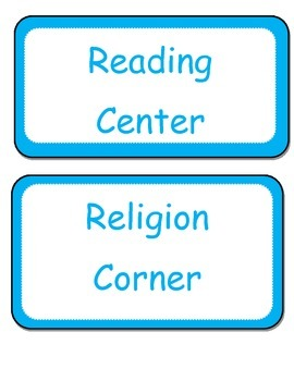 class/centers labels blue and white