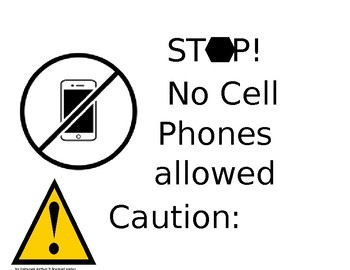 classroom flip chart for cell phone usage