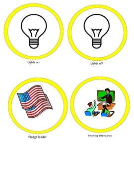 classroom job badges for Disney's UP theme