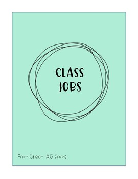 classroom jobs by whatever sprinkles your doughnut tpt