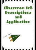 classroom jobs/ mini-economy