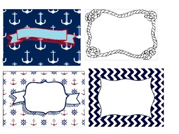 classroom labels nautical theme lables
