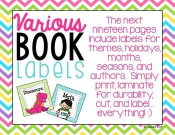 Classroom Library Labels {Chevron Theme}