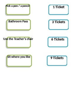 classroom management / reward system