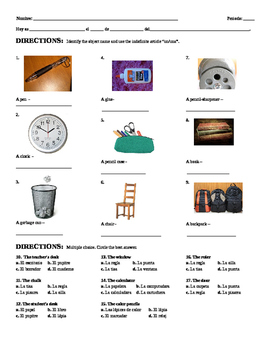 classroom object school supply test