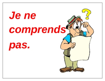 Classroom phrases in French Posters