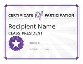 classs president award